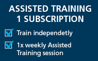 Assisted Training 1 Subscription - $100/week